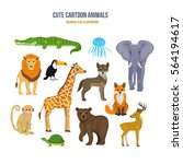 cute cartoon animals concept.... | Shutterstock .eps vector #564194617