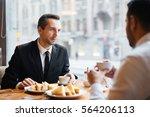 business meeting of partners in ...   Shutterstock . vector #564206113