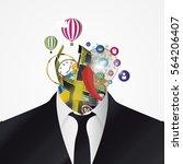 businessman. creative abstract... | Shutterstock .eps vector #564206407