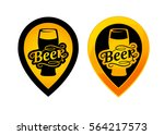 beer map pointer icon set. flat ... | Shutterstock .eps vector #564217573