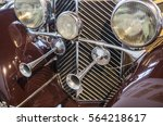headlights and horns on a... | Shutterstock . vector #564218617