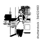 modern housewife   retro clip... | Shutterstock .eps vector #56422483