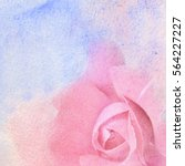 watercolor and flowers abstract ... | Shutterstock . vector #564227227