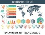 infographic elements set. world ... | Shutterstock .eps vector #564230077
