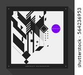 poster cover design template... | Shutterstock .eps vector #564236953