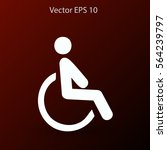 flat disabled icon. vector | Shutterstock .eps vector #564239797