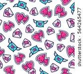 doodles cute seamless pattern....   Shutterstock .eps vector #564265477