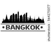 bangkok skyline silhouette  | Shutterstock .eps vector #564275377