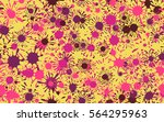 seamless chaotic pattern of... | Shutterstock .eps vector #564295963