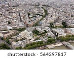 elevated view of the buildings... | Shutterstock . vector #564297817