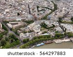elevated view of the buildings... | Shutterstock . vector #564297883