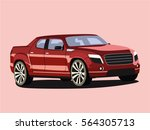 pickup vector red | Shutterstock .eps vector #564305713
