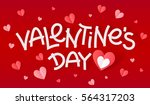 white valentines day hand drawn ... | Shutterstock .eps vector #564317203