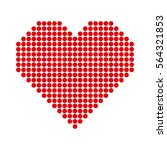 red hearts with halftone effect ... | Shutterstock .eps vector #564321853