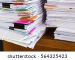 stack of paper | Shutterstock . vector #564325423