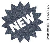 new sticker grainy textured... | Shutterstock .eps vector #564334177