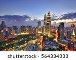 beautiful scenery of kuala... | Shutterstock . vector #564334333