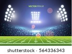 american football field with... | Shutterstock .eps vector #564336343