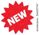 new sticker grainy textured... | Shutterstock .eps vector #564337747