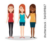 persons group avatars characters | Shutterstock .eps vector #564349867