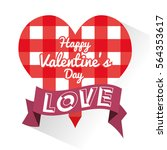 happy valentines day card | Shutterstock .eps vector #564353617