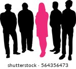 leader   a large group with... | Shutterstock .eps vector #564356473