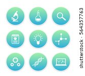 science icons set  research ...