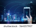 wifi internet connection in... | Shutterstock . vector #564357907
