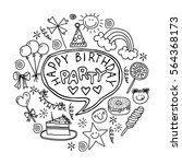 poster for the birthday... | Shutterstock .eps vector #564368173