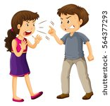 man and woman fighting... | Shutterstock .eps vector #564377293