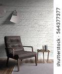modern bright interior . 3d... | Shutterstock . vector #564377377