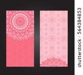 wedding invitation or card .... | Shutterstock .eps vector #564384853