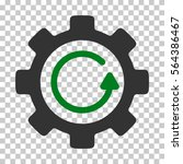 green and gray gear rotation... | Shutterstock .eps vector #564386467