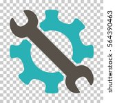 grey and cyan service tools... | Shutterstock .eps vector #564390463
