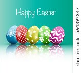easter egg with points. vector... | Shutterstock .eps vector #564392347