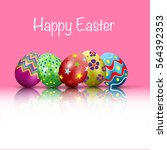 easter egg with points. vector... | Shutterstock .eps vector #564392353