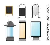 advertisement billboards vector ... | Shutterstock .eps vector #564399223