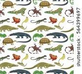 reptiles animals vector... | Shutterstock .eps vector #564399697