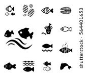 set of fish vector icon... | Shutterstock .eps vector #564401653
