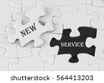 white puzzle with void in the... | Shutterstock . vector #564413203