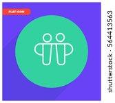 friends line vector icon   Shutterstock .eps vector #564413563