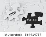 white puzzle with void in the... | Shutterstock . vector #564414757