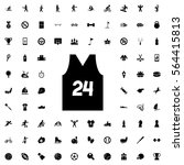 sport t shirt number 24 icon... | Shutterstock .eps vector #564415813
