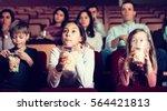 audience attending movie night... | Shutterstock . vector #564421813