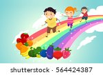 colorful illustration featuring ... | Shutterstock .eps vector #564424387