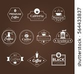 cafe shop vintage coffee white... | Shutterstock .eps vector #564433837