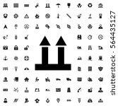 cargo arrow up icon... | Shutterstock .eps vector #564435127
