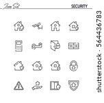 security flat icon set.... | Shutterstock .eps vector #564436783