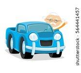 blue car.   Shutterstock .eps vector #564441457