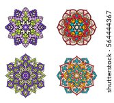 set of mandalas. ethnic... | Shutterstock .eps vector #564444367